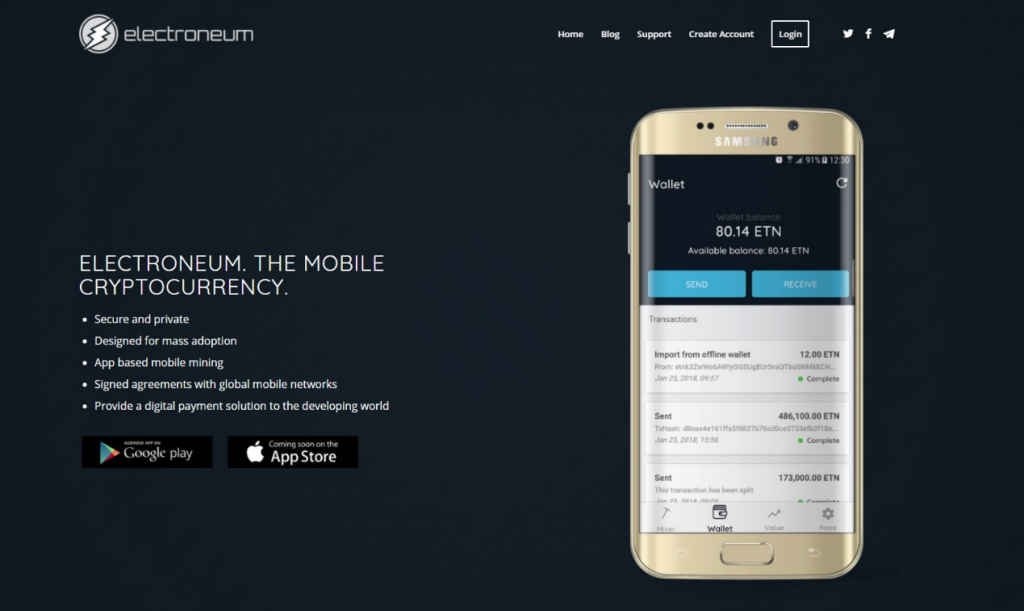 Mine Electroneum on your smartphone